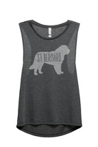 Thread Tank St Bernard Dog Silhouette Women's Sleeveless Muscle Tank Top Tee Cha - $24.99+