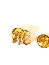 gold Elephant  with crystal Lapel Pin Badge Lapel /tie Pin