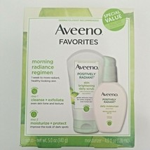 Aveeno Positively Radiant Daily Scrub 5 Oz & Moisturizer 4 Oz Exp 02/22  - $18.24