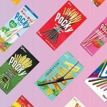 Asian japan Sweets 5 Pocky Snack Chocolate  sweets snack Extra Free Gift - $15.20