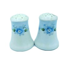 VTG Hand Painted Meito China Blue Floral Salt & Pepper Shakers w New Sto... - $11.95