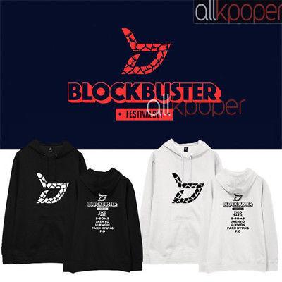 KPOP Block B Cap Hoodie BLOCKBUSTER Hoody Pullover Zico TAEIL Sweatershirt