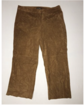 Express Pants Culottes Size 0 Genuine Suede Crop Womens Inseam 22 Camel NWT - $77.40