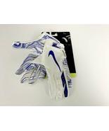 Nike Vapor Jet 5.0 Football Gloves White/Game Royal Men's S#517G - $38.99