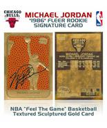 "MICHAEL JORDAN AUTOGRAPHED 1997 FLEER LIMITED ""1986 ROOKIE"" 23KT GOLD CARD - $24.49"