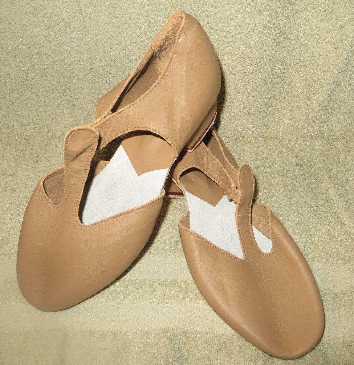 Bloch S0407L Leather Tan Grecian Sandals Size 9.5 9.5M Medium M