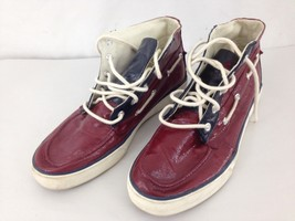 Ralph Lauren Polo Mens 10D Burgundy Lace Up Lander Chukka Sneakers Shoes - $18.81