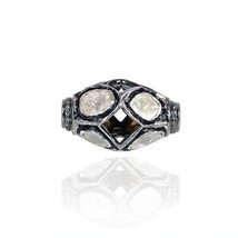 2.25 Ct Rose Cut Diamond Pave Bead Spacer Finding .925 Sterling Silver J... - $223.15