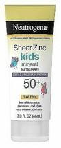 Neutrogena Sheer Zinc Kids Mineral Sunscreen Lotion, - $12.20