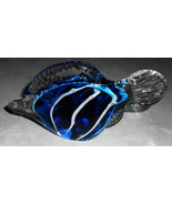 """GLASS FISH GROUNDED BOTTOM BLUE AND CLEAR WITH GROUNDED BOTTOM 6"""" LONG  - $24.75"""