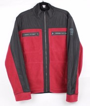 Calvin Klein Jeans men's fleece zip jacket in fire red black long sleeve... - $26.63