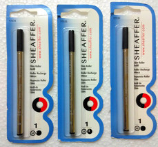 3 x Sheaffer® Black Medium Slim ROLLER Ballpoint Pen Refill Roller BP (9... - $13.49
