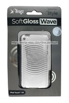iFROGZ Case for IPOD TOUCH 4G Clear/Off White SOFT GLOSS WAVE Hard Plast... - $2.97