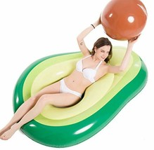 Swimming Inflatable Avocado Pool Float Floatie with Ball Water Fun Large... - $32.65