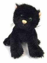 "Webkinz Shiny Black Cat Plush No Code Ganz 8"" Stuffed Animal Lovey HM135 - $6.44"