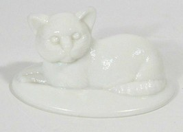 "Cat Candy Dish Lid Westmoreland Milk Glass 5"" White Vintage Kitty Figuri... - $7.43"