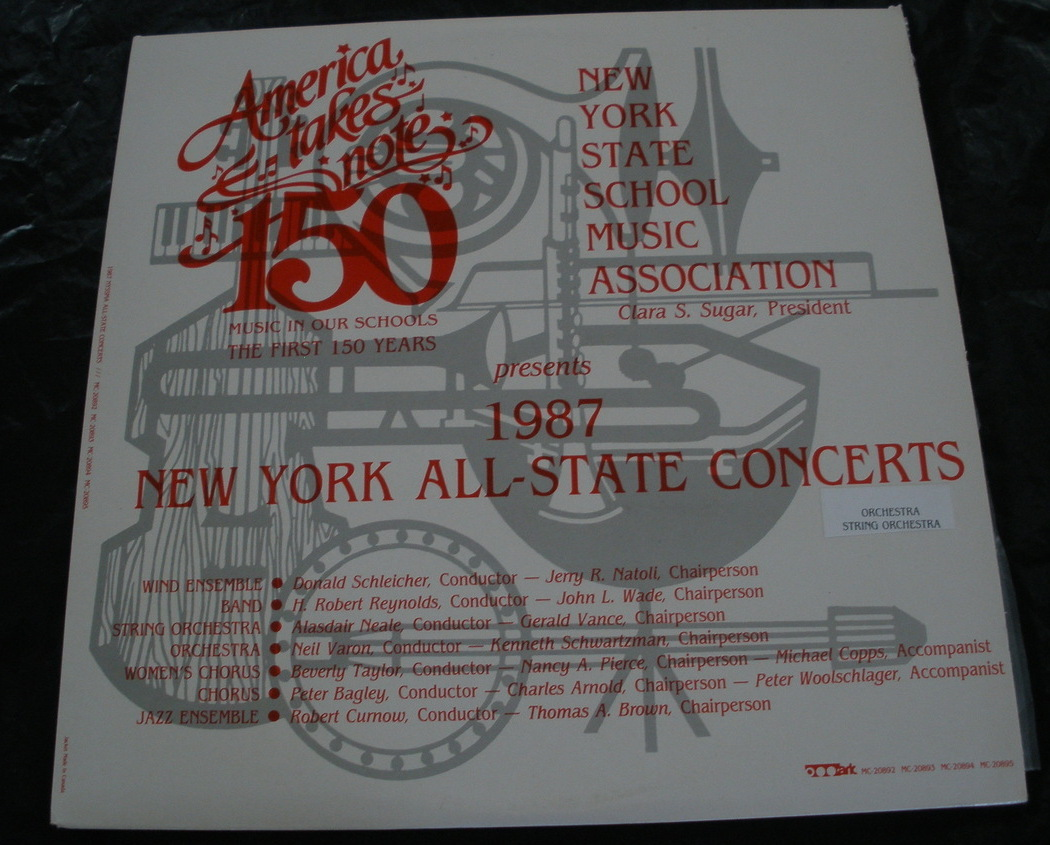 1987 ny all state concerts   lp