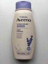 Aveeno Stress Relief Body Wash 18oz Calms & Relaxes w/LAVENDER, Chamomile &Ylang - $13.71