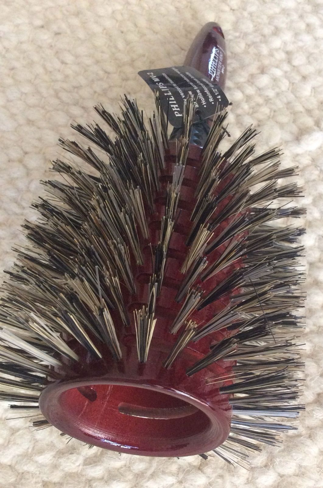 "5"""" boar Bristle Round Hair Brush new also know as Phillips #1 monster vent"