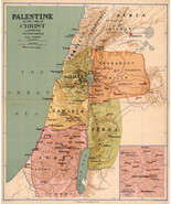 """1916 Map Palestine in the Time of Christ Christianity Israel Poster 11""""x... - $12.38"""