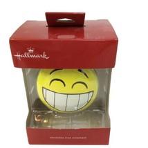 Hallmark 2017 Smile Surprise Emoji Yellow Ornament - $14.01
