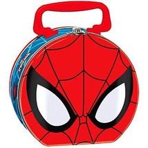 Spiderman Metal Lunch Box Kids Carry Tin Handle Lock Closure Toy Box Mar... - $5.94