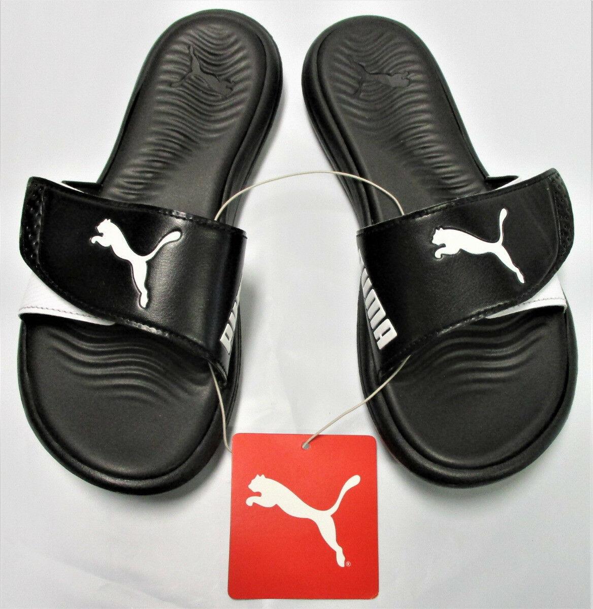 915a7e829460 PUMA Womens  Adjustable Strap Surfcat Slide Sandals - Black White - Size 8