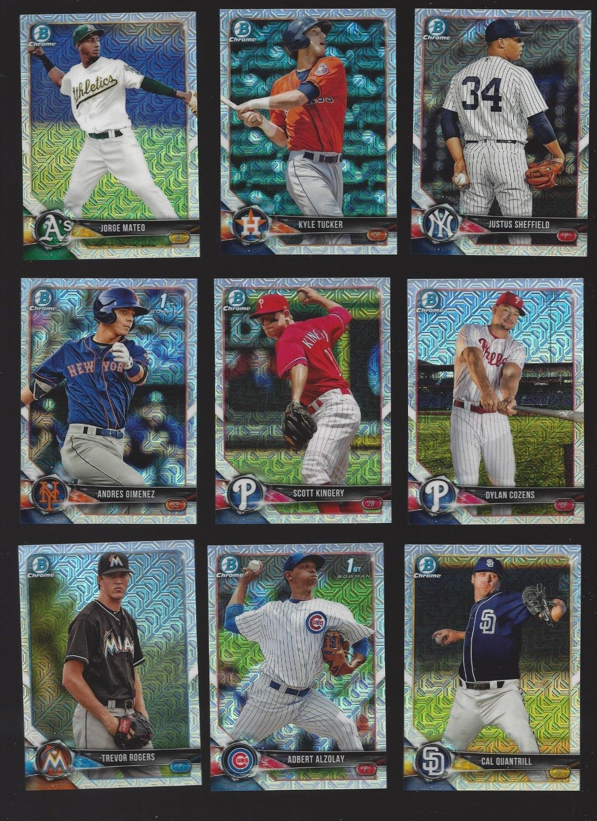 2018 BOWMAN CHROME PROSPECTS - ALL MEGA BOX -  MOJO (RC's 1st cards) U PICK!! image 1