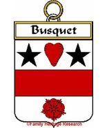 BUSQUET French Coat of Arms Print BUSQUET Famil... - $25.00
