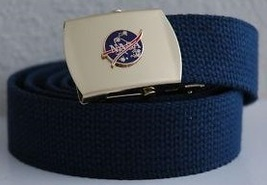 USAF NASA Blue Belt & Buckle  - $14.99