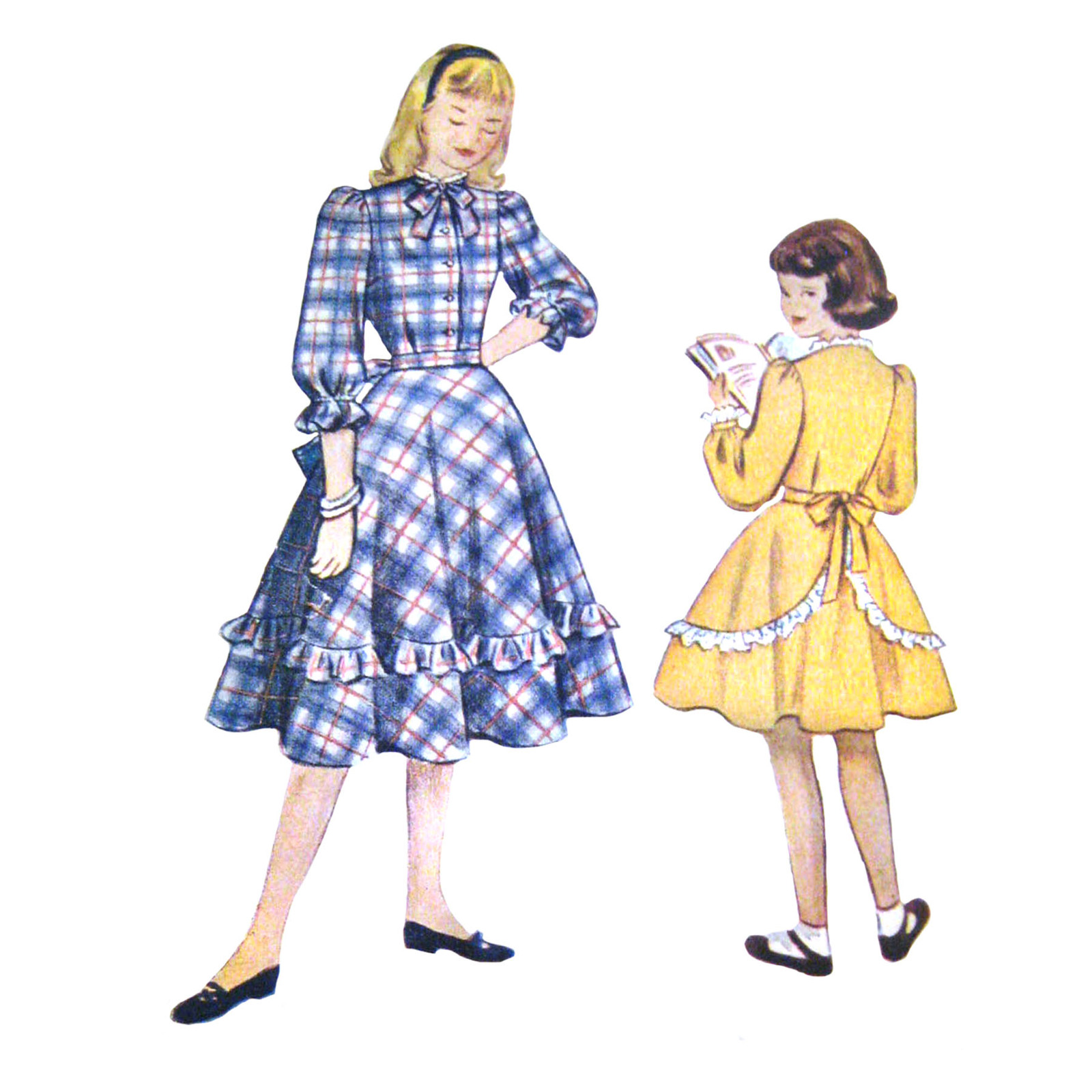 cb905bf3c2df7 Vintage 40s Simplicity 2650 Girls Dress Long and 50 similar items. S 2650
