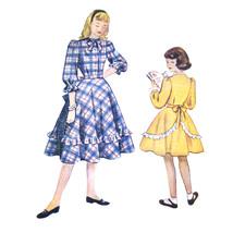 1940s Vintage Simplicity Sewing Pattern 2650 Girls Flared Shirtwaist Dre... - $7.95