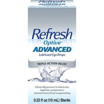 Refresh Optive Advanced Lubricant Eye Drops 0.33 oz per Box - $18.76