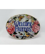 Hand Painted Amia Welcome Friends Suncatcher - $21.29