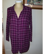Motherhood Maternity Pink Plaid Shirt 1X  2X Long Length Long Sleeve Top... - $338,66 MXN
