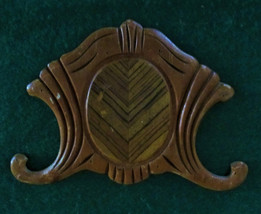 Wood applique overlay 1930's depression, waterfall, art deco - $23.85