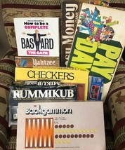 Vintage Board Games Milton Bradley Parker Pay Day Checkers Backgammon Yahtzee - $19.34