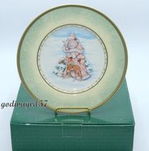 Fitz Floyd Santa's Portrait * 8 SALAD PLATES * Santa Winter Holiday Chri... - $149.95
