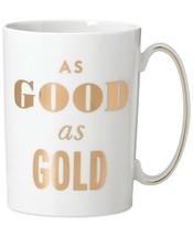 "kate spade new york Simply Sparkling Mug ""Good As Gold"" Mug NEW - $17.99"