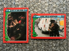 1991 Topps Teenage Mutant Ninja Turtles TMNT II Movie Cards Lot: #62 & #65 - $3.92