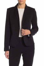 J Crew Womens Size M Schoolboy Blazer Black 2 Button Suit Jacket K2899  - $58.00