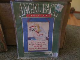 Bernat ANGEL FACE Christmas CARD HOLDER Cross Stitch SEALED Kit 95-4016-00 - $6.93
