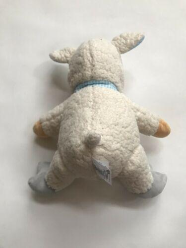 Disney Store Winnie the Pooh Lamb Stuffed Plush Animal Blue Gingham Easter