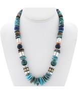 "Navajo Jewelry Rose & Tommy Singer Turquoise Multi-Gems 21"" Treasure Nec... - $379.00"
