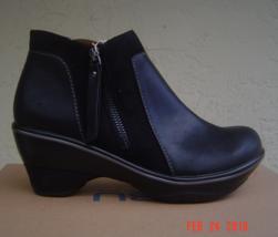 New Jambu Black Leather Booties Boots Size 8 M Size 8.5 M $129 - $50.04