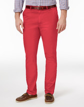 NEW MENS CLUB ROOM FLAT FRONT RED MELONE COTTON CHINO PANTS 34 x 32 - $19.79