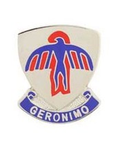 United States Army  501st Infantry Airborne Regiment Label Hat Pin Geronimo - $9.89