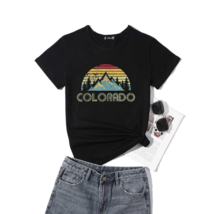 Vintage Colorado Mountains Nature Hiking T-Shirt Black S-5XL - Women's T... - $21.99+