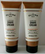Lot 2  Bourbon Cedar Shave Cream Hemp Oil OLIVINA 6.5oz SEALED - $19.79