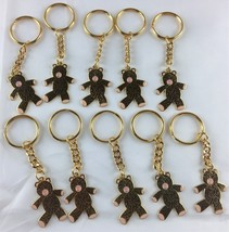 Bobo The Ugly Bear Keychain Lot of 10 Teddy Teddie Brown Pink Nose Cute ... - $7.99